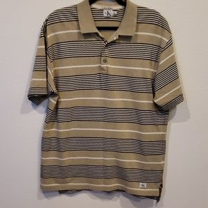 Calvin Klein pull over polo shirt size L